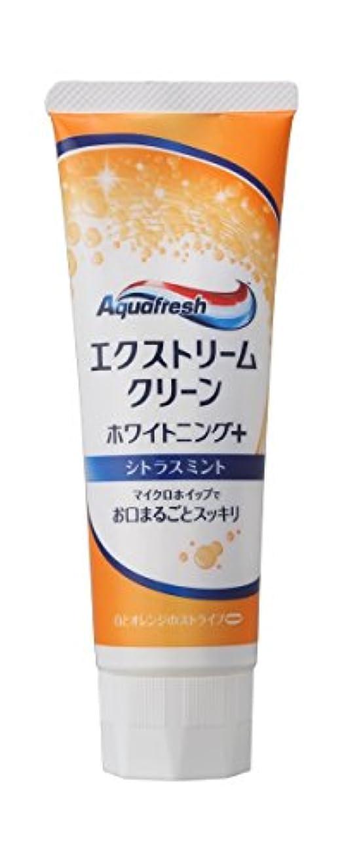 ニコチン歯科の吹きさらし【アース製薬】アクアフレッシュ エクストリームクリーン ホワイトニング+シトラスミント 140g ×3個セット