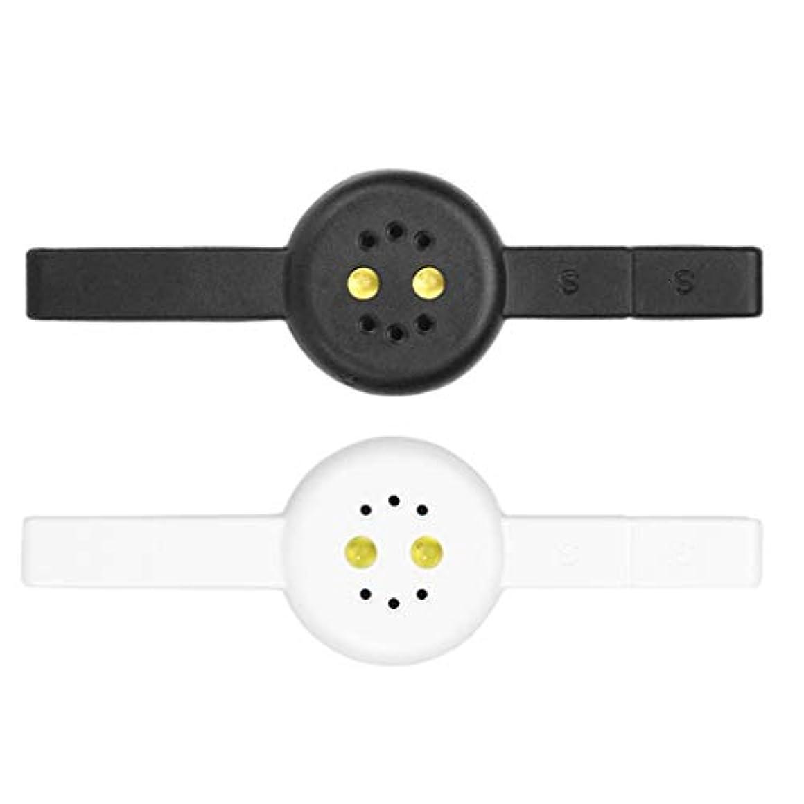 障害嬉しいです運命Toygogo 2本DIYミニネイルマニキュア硬化ランプ磁気Cateye PolyGelポリッシュドライヤー