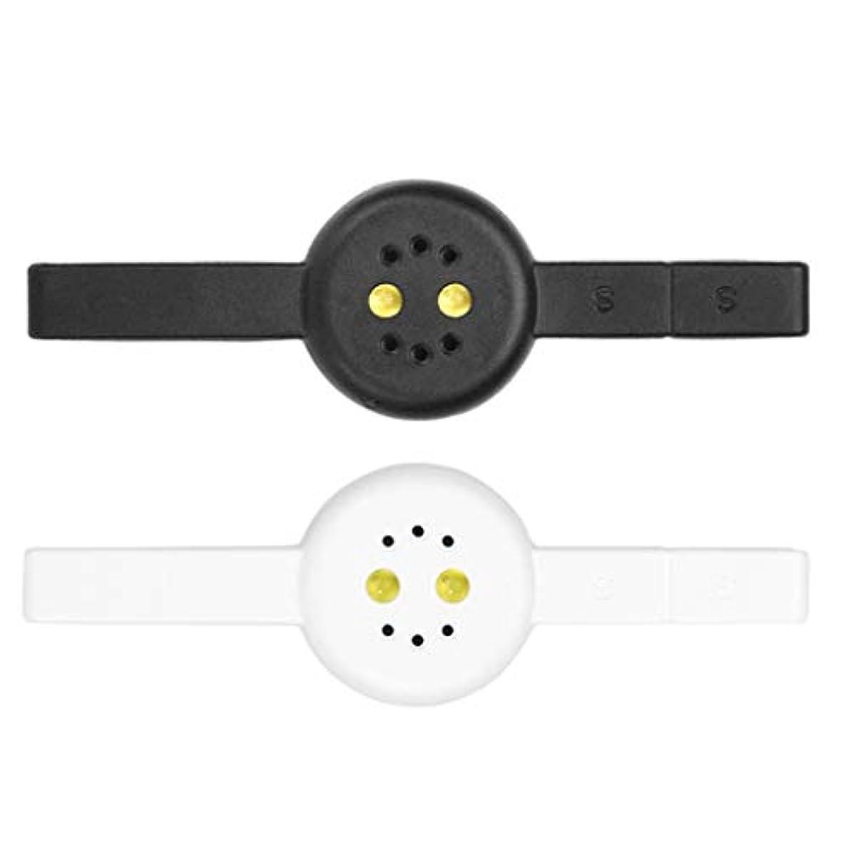 社会主義ハーネス癌Toygogo 2本DIYミニネイルマニキュア硬化ランプ磁気Cateye PolyGelポリッシュドライヤー