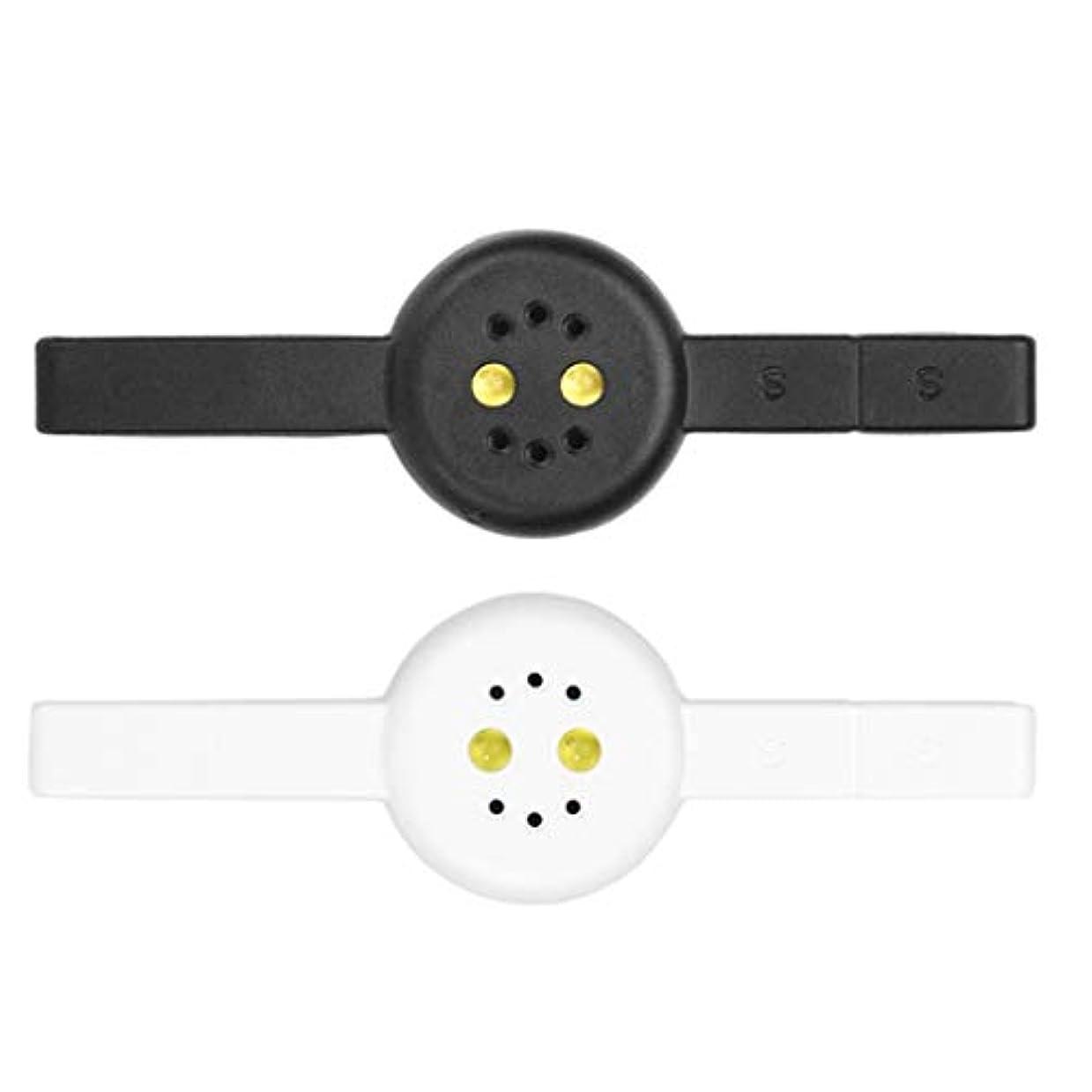 ロック解除教義失望させるToygogo 2本DIYミニネイルマニキュア硬化ランプ磁気Cateye PolyGelポリッシュドライヤー