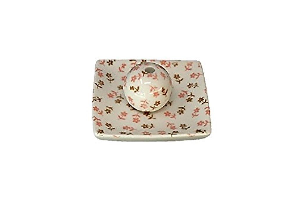 面白い単に時折ミニフラワー 小角皿 お香立て 陶器 ACSWEBSHOPオリジナル