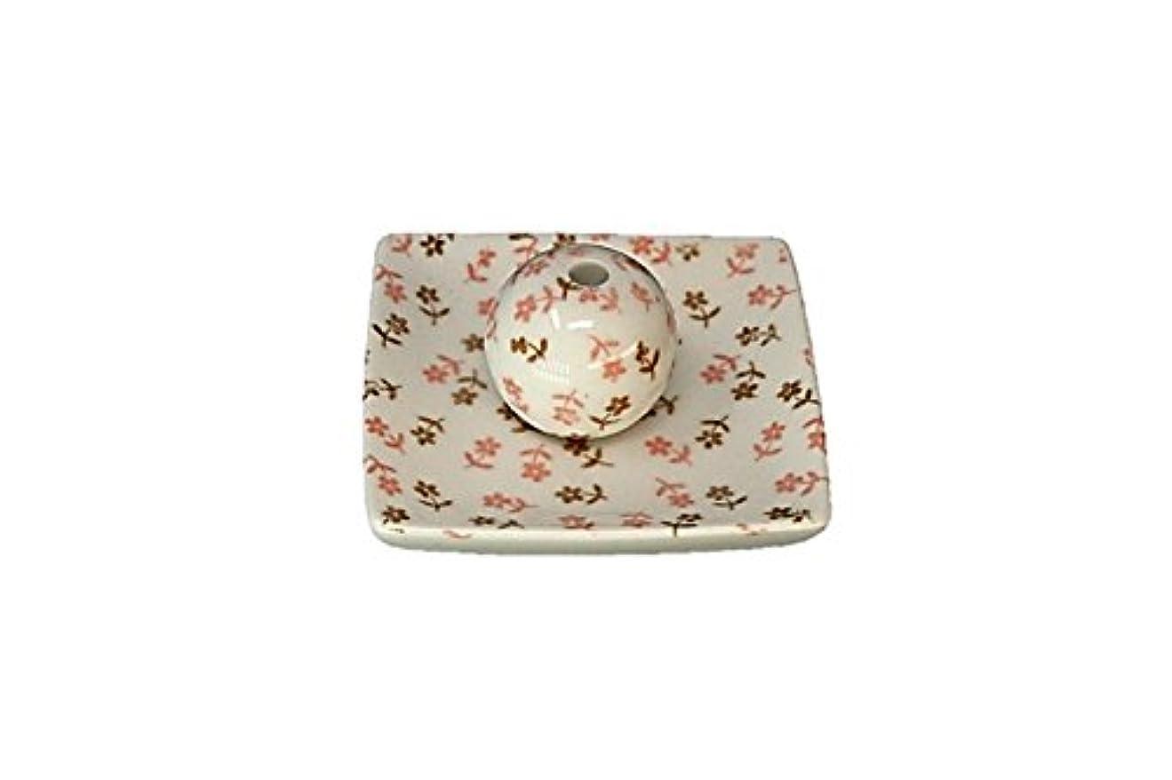 座る一般化する変えるミニフラワー 小角皿 お香立て 陶器 ACSWEBSHOPオリジナル