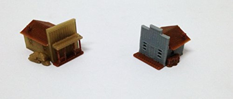 Outland Models Train Railway Layout Building Old West House / Shop Set Z Scale