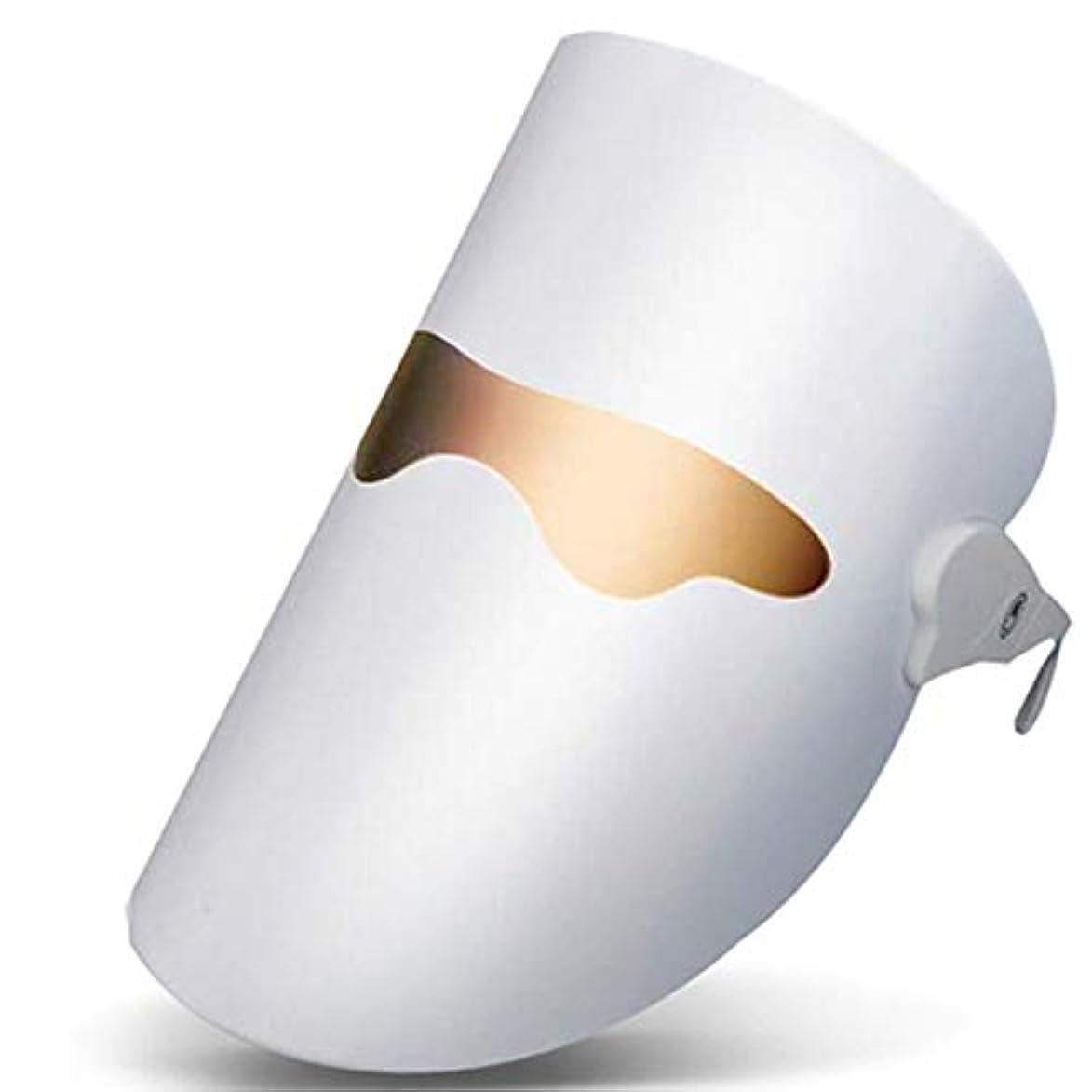 広告コンクリート差し迫った美顔器 光エステ LED美顔マスク 3色 美容 たるみ ほうれい線 美肌 ニキビ対策 コラーゲン生成 美白 エイジングケア電気