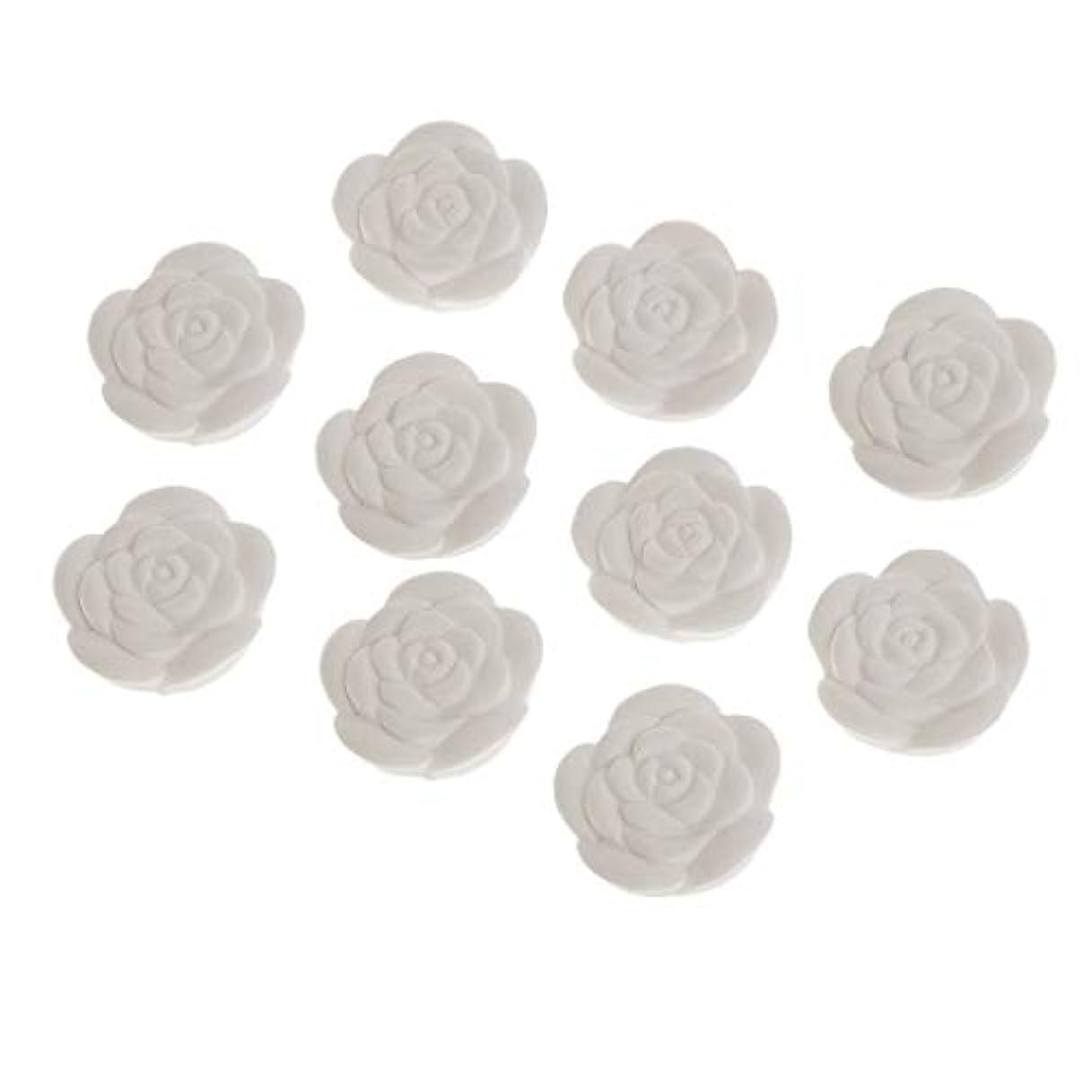 動かす複雑な獲物アロマストーン 石膏 花形 香り変更可能 トイレ用 車用 家用 寝室用 10個入り
