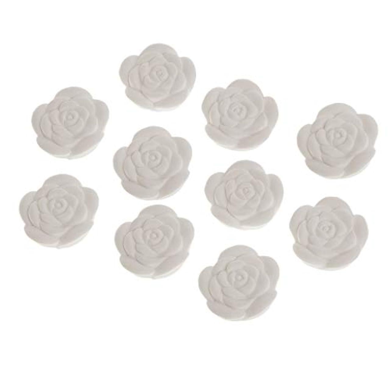マージ右散らすアロマストーン 石膏 花形 香り変更可能 トイレ用 車用 家用 寝室用 10個入り