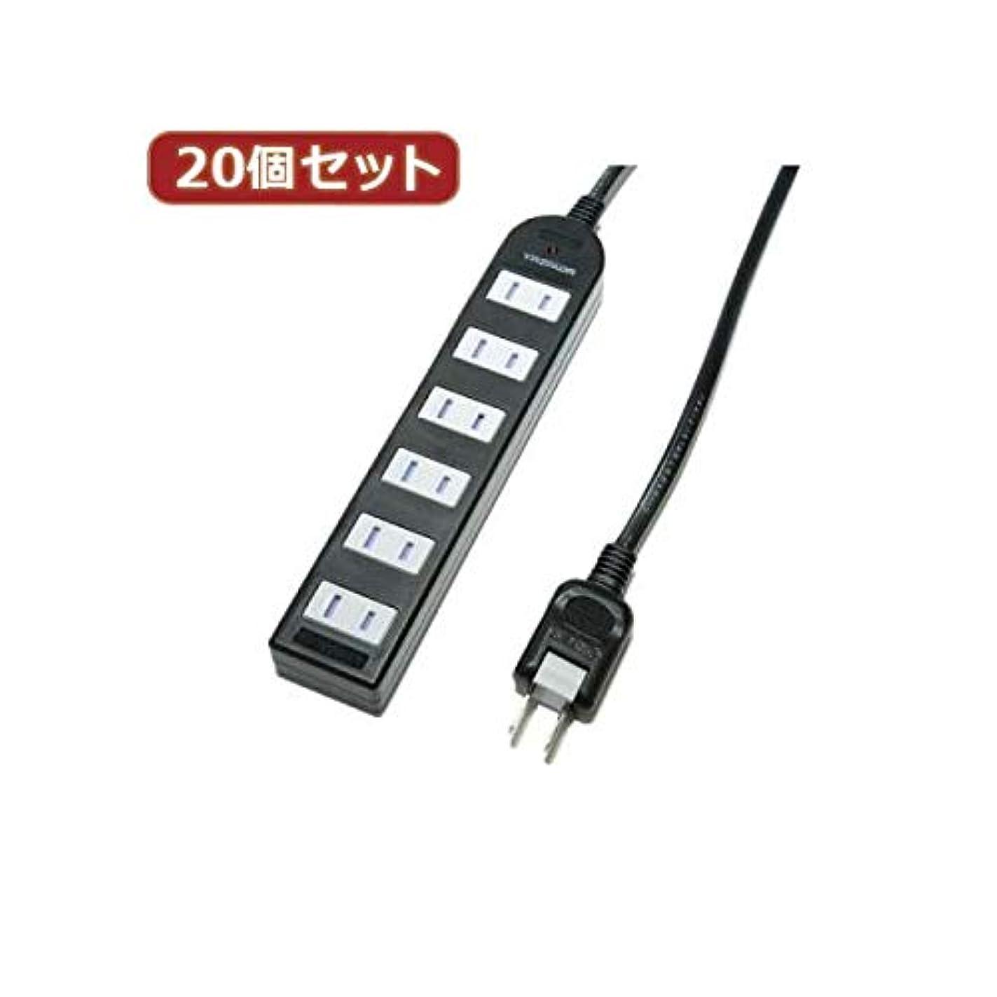 ドアミラーランチョン前投薬YAZAWA 20個セット ノイズフィルター付AV機器タップ Y02KNS602BKX20 AV デジモノ パソコン 周辺機器 電源タップ タップ 14067381 [並行輸入品]