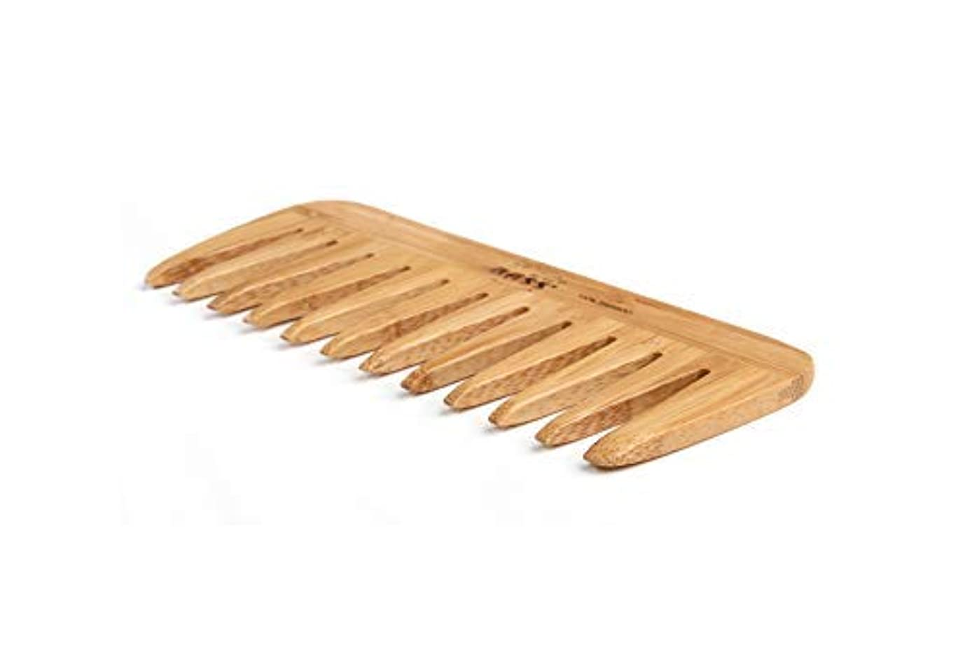 東ゴージャスバレエBass Brushes | Grooming Comb | Premium Bamboo Teeth and Handle | Wide Tooth Style | Dark Finish | Model W2 - DB...