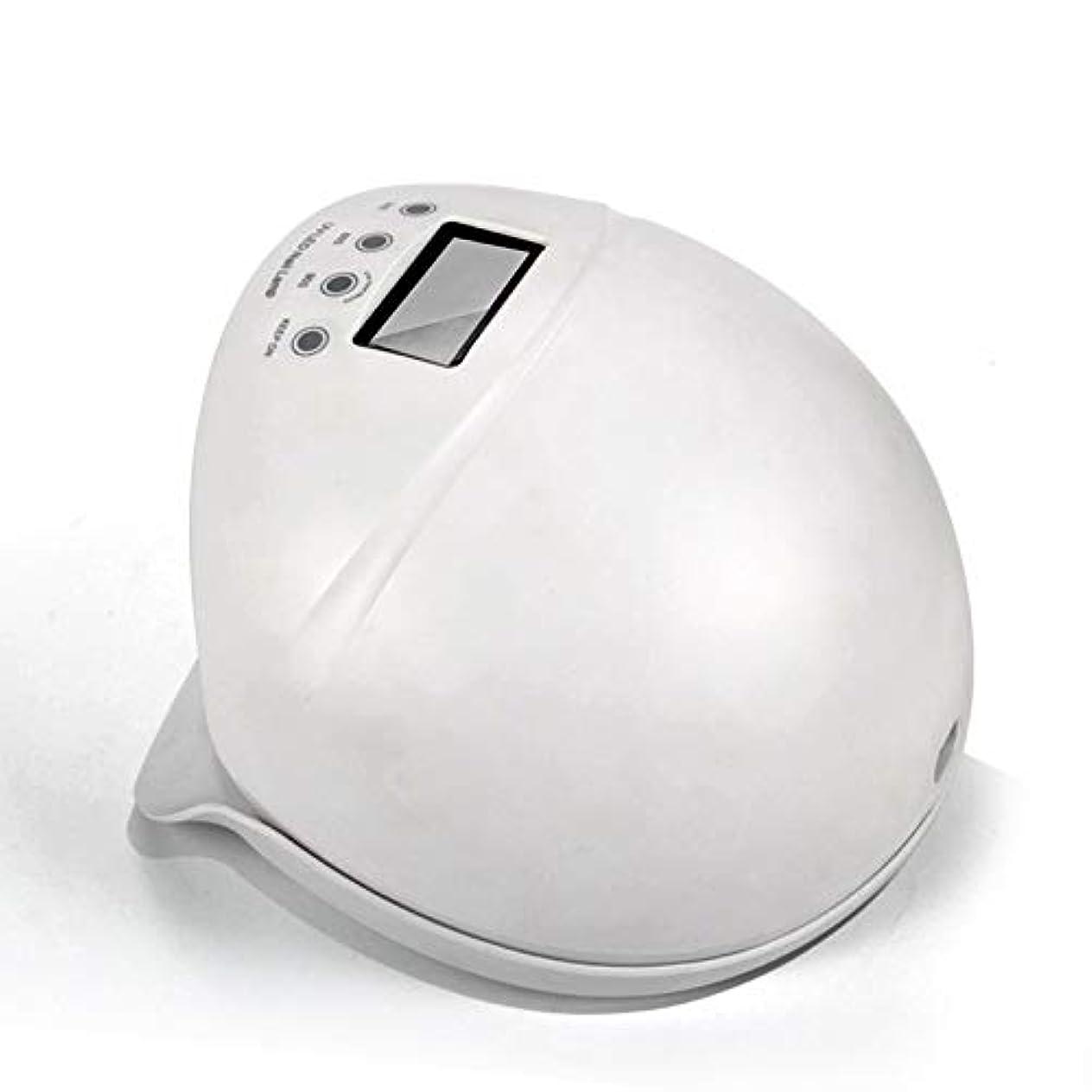 屋内致死見てネイルライト50ワットuv ledネイルドライヤー無痛硬化ランプ付き自動誘導ledディスプレイ3タイマーセットネイルとtoenailジェルポリッシュ