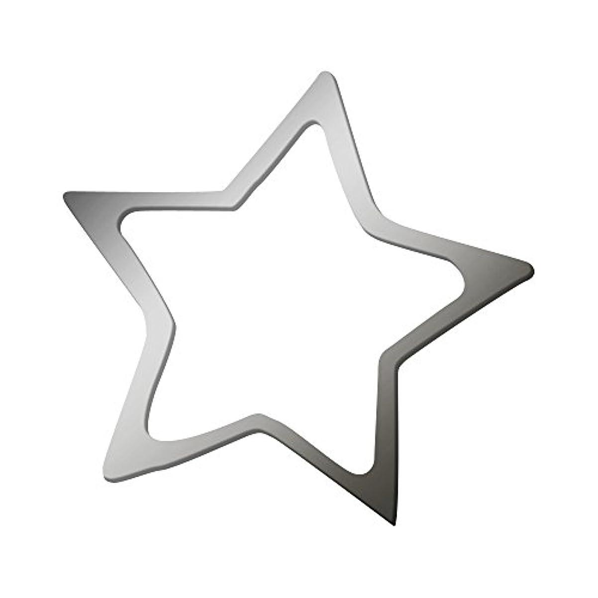 平手打ち剛性凝視リトルプリティー ネイルアートパーツ スター 3S シルバー 20個