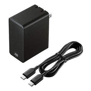 サンワサプライ ACA-PD58BK USB Power Delivery対応AC充電器(45W)