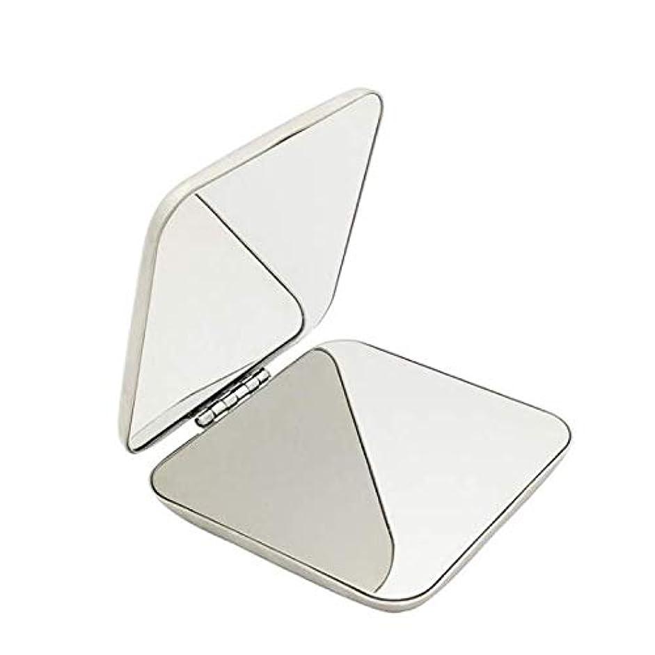 インディカ補足屈辱する飛散防止化粧鏡ステンレス鋼 化粧鏡おすすめ 携帯用ミラー化粧用鏡( スクエア)