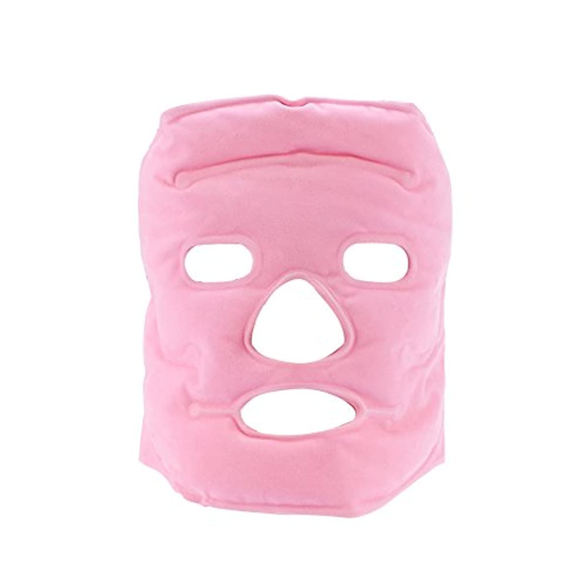 成人期リマーク換気トルマリンフェイスマスク、フェイシャル美容マスク計器トルマリン磁気コールド/ホットコンプレッションマッサージアンチリンクルフェイスケア女性
