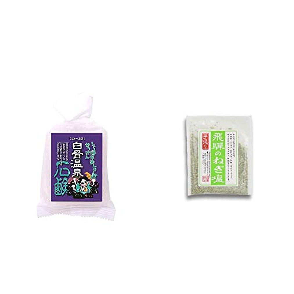 魅了する降臨属性[2点セット] 信州 白骨温泉石鹸(80g)?手造り 飛騨のねぎ塩(40g)