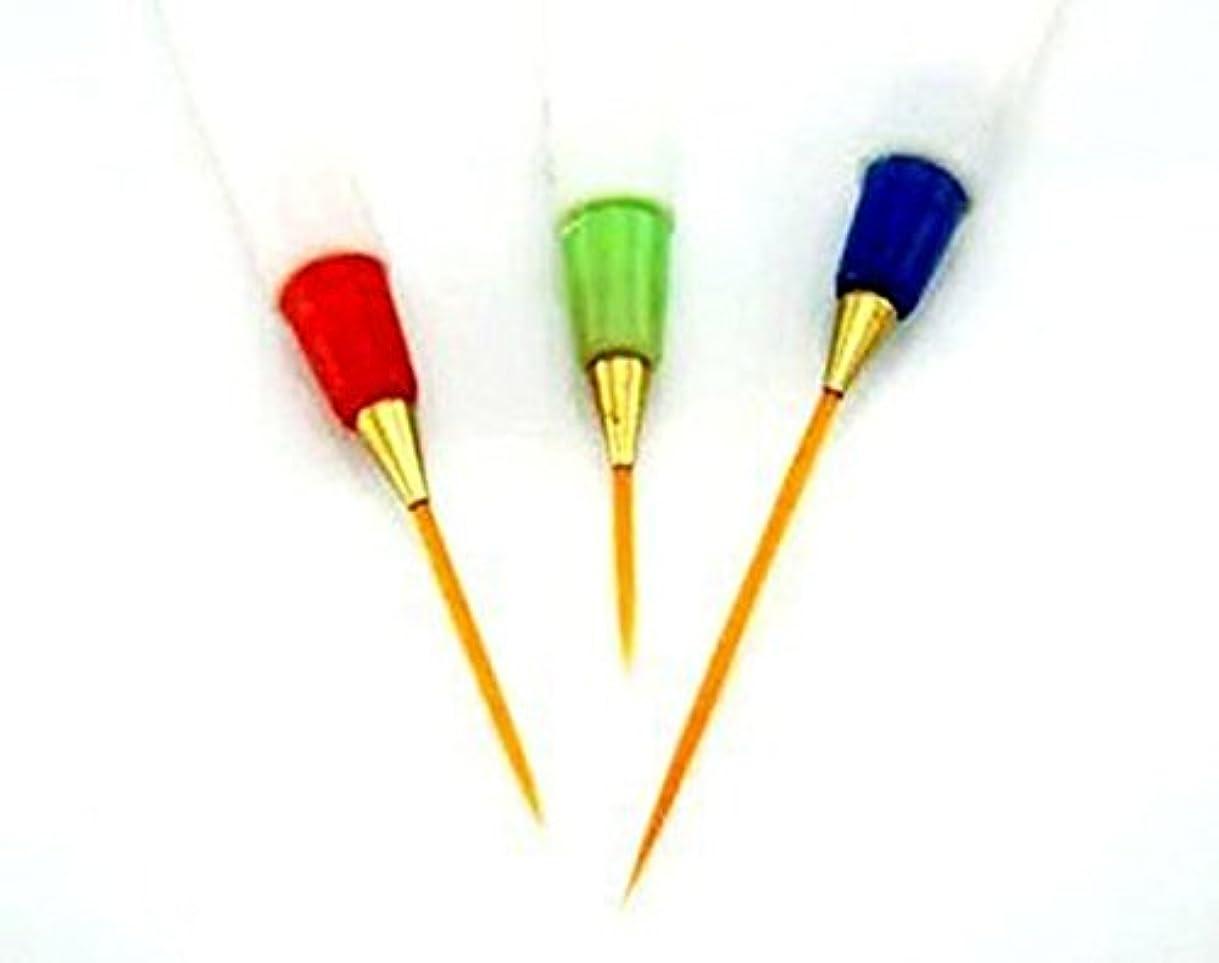 気づく緑愛されし者Vaorwne 3x白い絵画ペンネイルアートデザインペンブラシの描画ストライプライナーセット