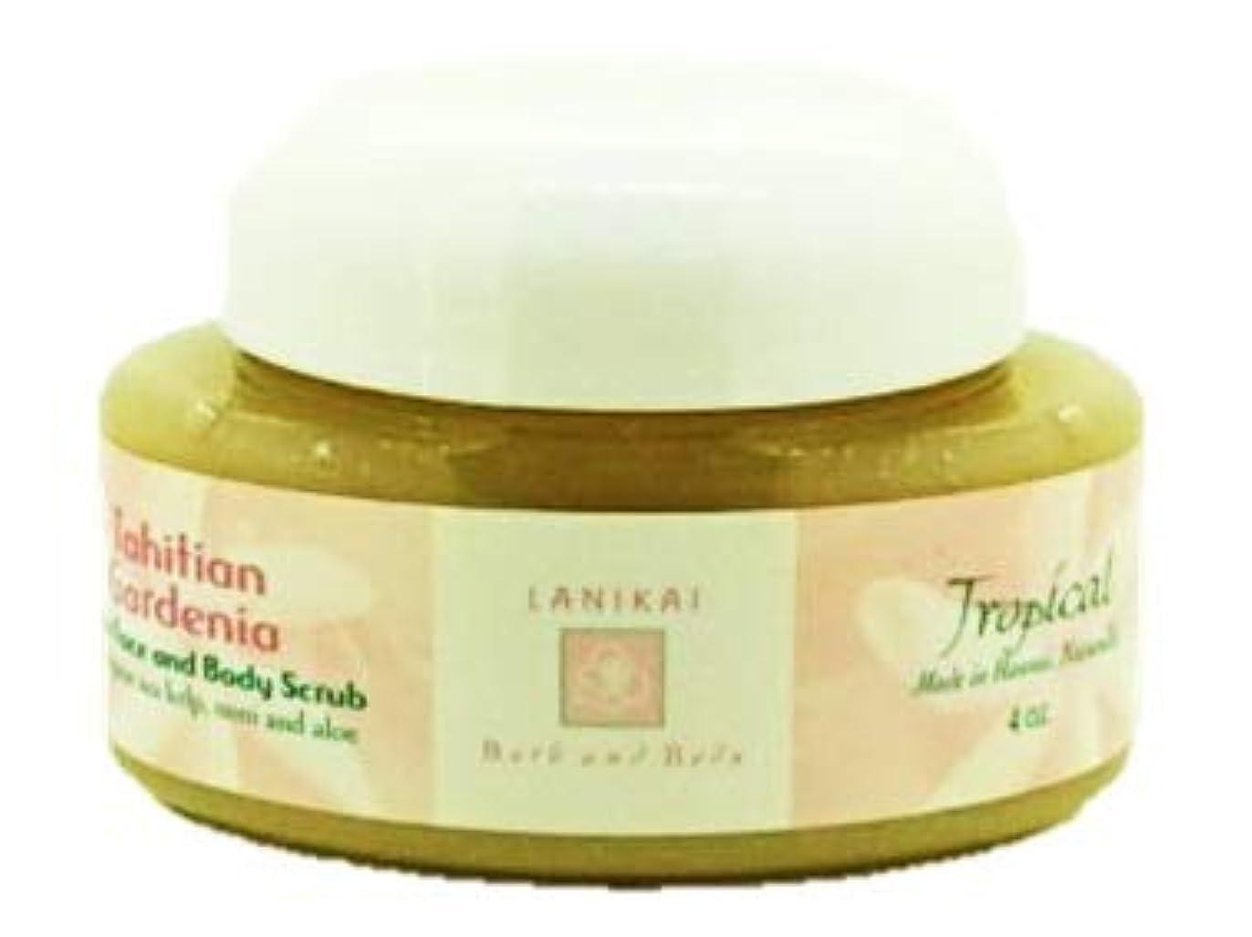 配置プラットフォーム充実LANIKAI Tahituian Gardenia Body Scrub ラニカイ タヒチアン ガーデニア ボディスクラブ 4oz
