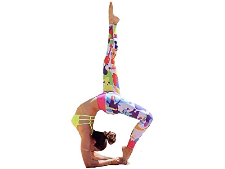 【hkukat】ヨガウェア ヨガパンツ レディース ストレッチ 加圧 フィットネス スポーツ 瞑想 ランニング レギンス