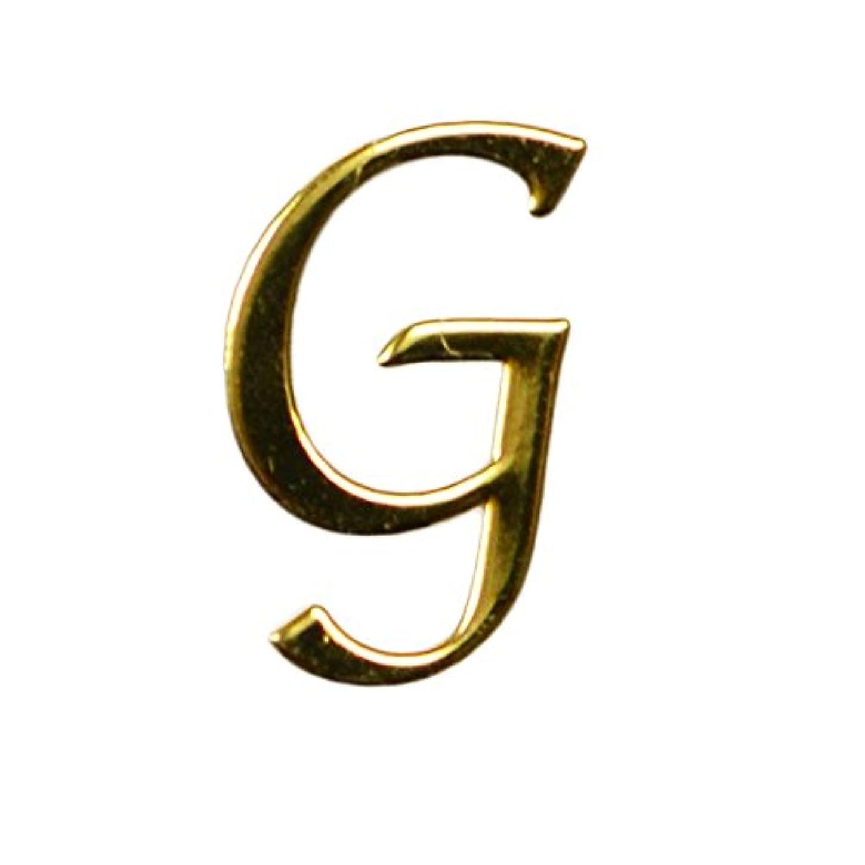 まっすぐファウル抑制するG/ゴールド?人気の書体のアルファベットイニシャルパーツ!4mm×7mm10枚