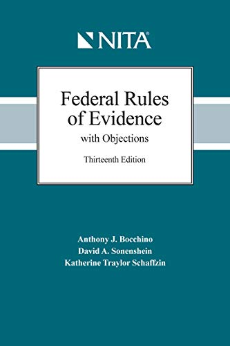 Download Federal Rules of Evidence With Objections: As Amended to December 1, 2017 (Nita) 1601567634