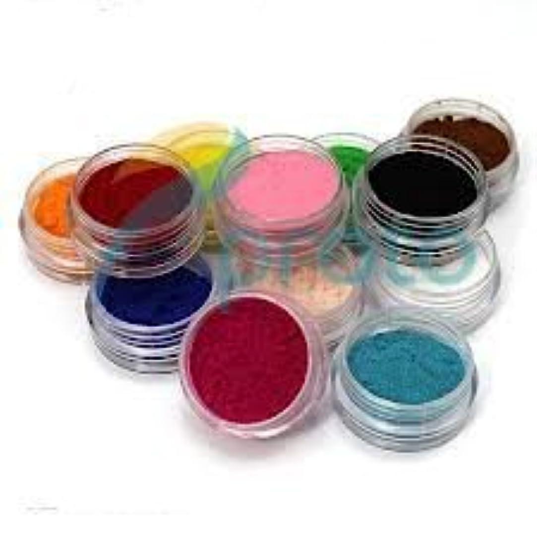 データベースヒゲクジラ横に12 Color Nail Art Velvet Flocking Powder Kit Decoration Polish Tips Manicure