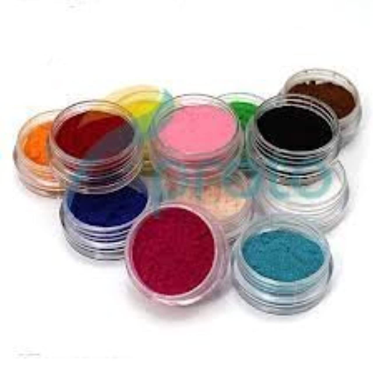 外科医フィッティング現実12 Color Nail Art Velvet Flocking Powder Kit Decoration Polish Tips Manicure