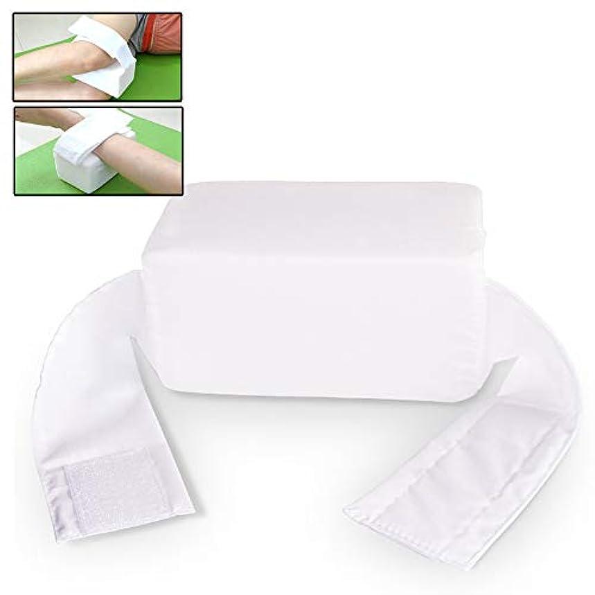魔女牽引特別な調節可能なストラップ付きの多機能抗床ずれ膝枕 -サイドスリーパー、坐骨神経痛、妊娠と関節痛のためのくさびスポンジ枕