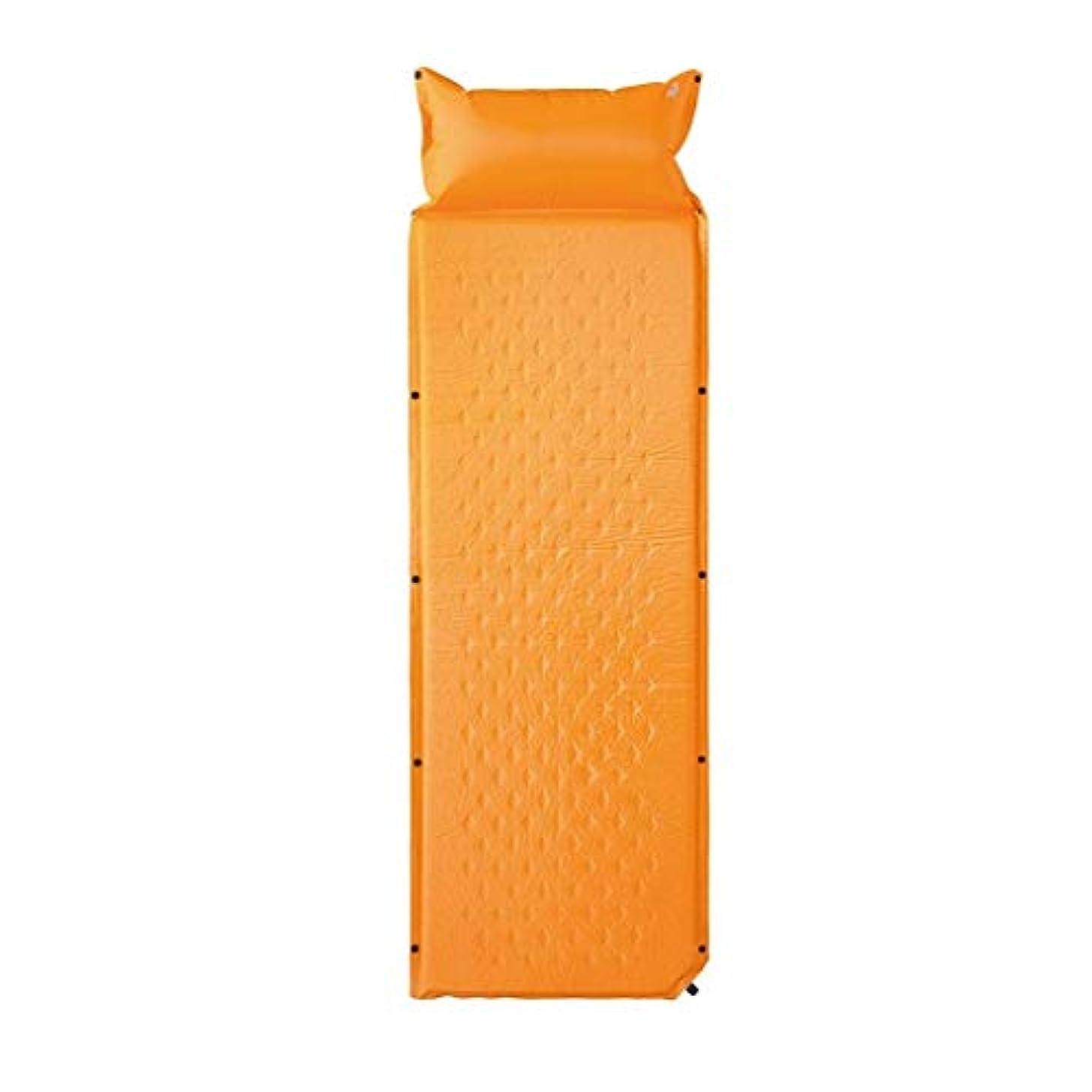 同等の悲しいことにラダWSJTT 付属の枕インフレータブルフォームマットで膨脹するキャンプスリーピングパッド自己ハイキングバックパッキングテント用超軽量折りたたみエアマットレス