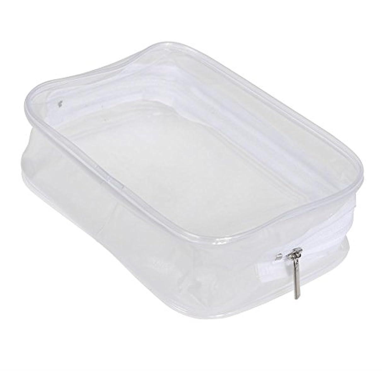 寛大さ一流リボンEcotrump PVC透明 化粧ポーチ 化粧バッグ 化粧道具 レディース 防水 ポータブル プラスチック 小物入れ ミニ財布 コインポーチ 洗面用具入れ