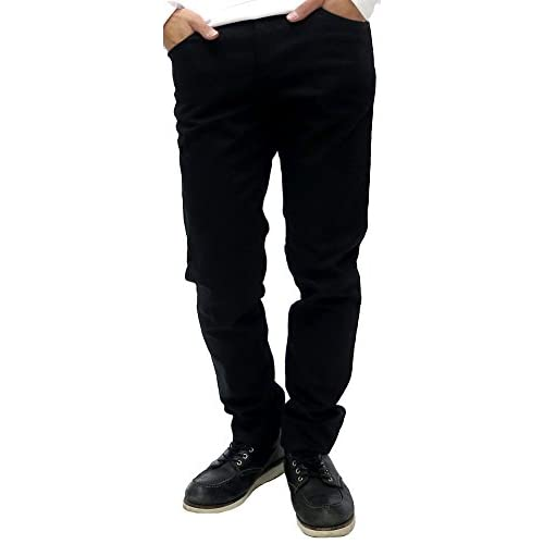 (エドウィン) EDWIN ジーンズ メンズ デニム パンツ ストレッチ レギュラー ストレート ジーパン ズボン 黒 1color 31インチ ブラック
