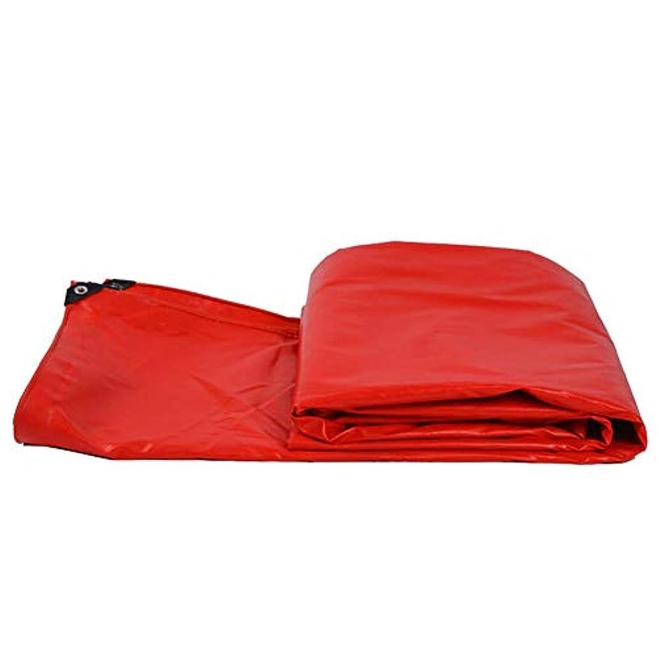 コンセンサス購入便益Yushengxiang 防水布防水キャンバスPVC防水シートトラック防水シート屋外の日よけ防塵防風小屋布高温とアンチエイジング (Color : 赤, サイズ : 4x6M)