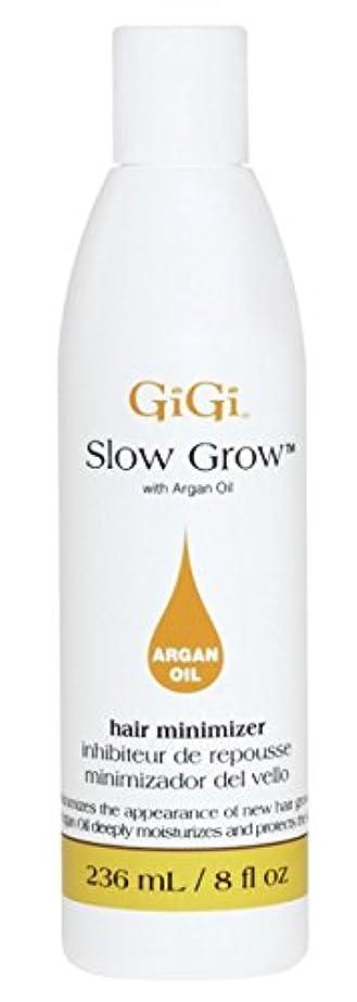 滑り台ゴールド飛び込むGigi Slow Grow With Argan Oil Hair Minimizer 235 ml (並行輸入品)