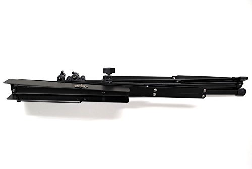 KC 譜面台 軽量スチール製 MS-200J/BK ブラック (ソフトケース付)