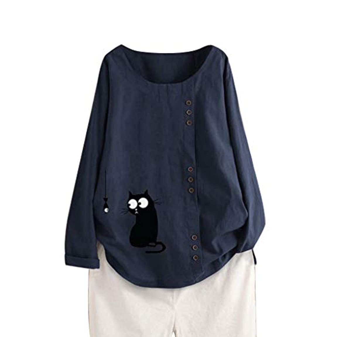 メリー恐ろしいですラジカルAguleaph レディース Tシャツ おおきいサイズ 長袖 コットンとリネン 花柄 トップス 学生 洋服 お出かけ ワイシャツ 流行り ブラウス 快適な 軽い 柔らかい かっこいい カジュアル シンプル オシャレ 春夏秋