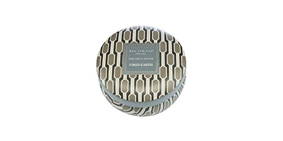 到着エコーパトロールWAX LYRICAL ENGLAND FIRED EARTH 缶入りキャンドル アールグレー&ベチバー CNFE0807
