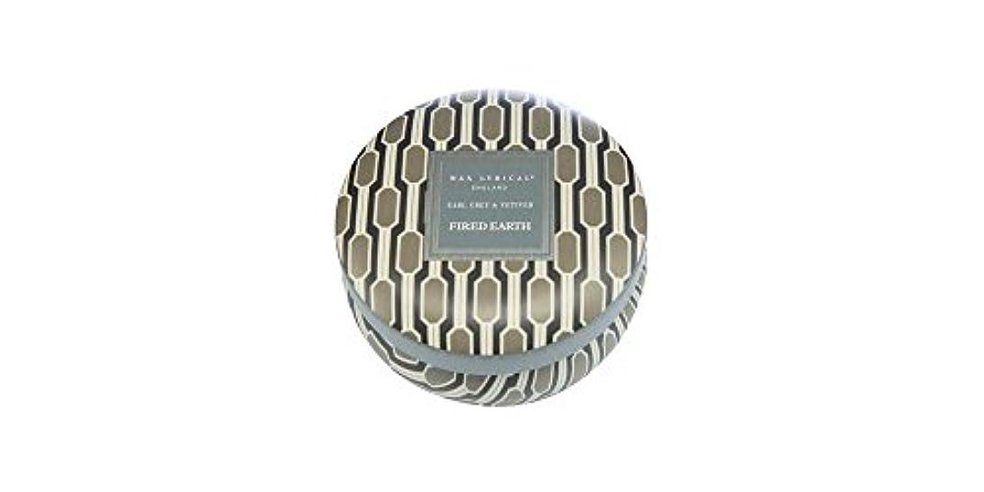 日パーセント囚人WAX LYRICAL ENGLAND FIRED EARTH 缶入りキャンドル アールグレー&ベチバー CNFE0807