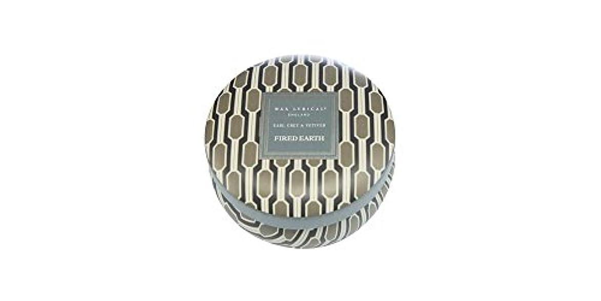 貢献する幽霊給料WAX LYRICAL ENGLAND FIRED EARTH 缶入りキャンドル アールグレー&ベチバー CNFE0807