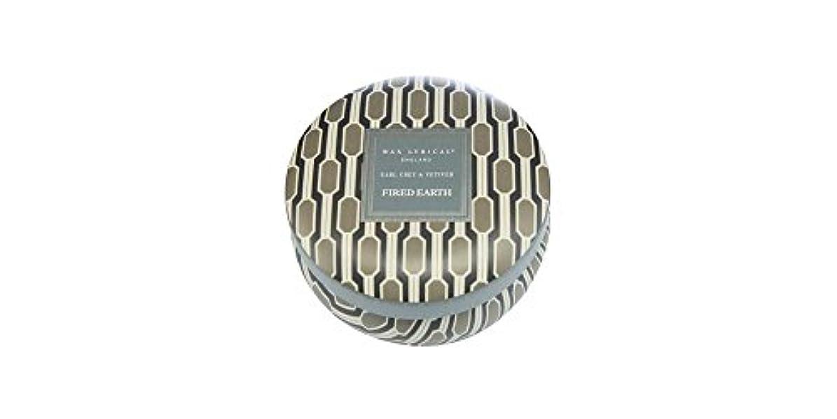 近似伝染病ミュートWAX LYRICAL ENGLAND FIRED EARTH 缶入りキャンドル アールグレー&ベチバー CNFE0807