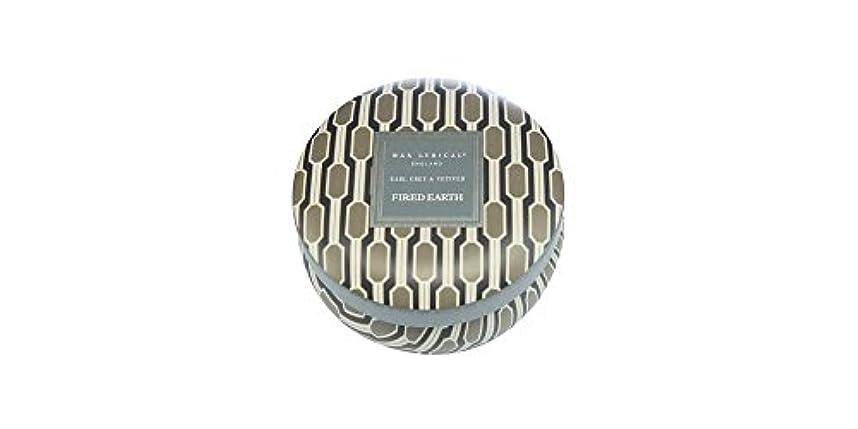 企業ダイアクリティカルホイッスルWAX LYRICAL ENGLAND FIRED EARTH 缶入りキャンドル アールグレー&ベチバー CNFE0807