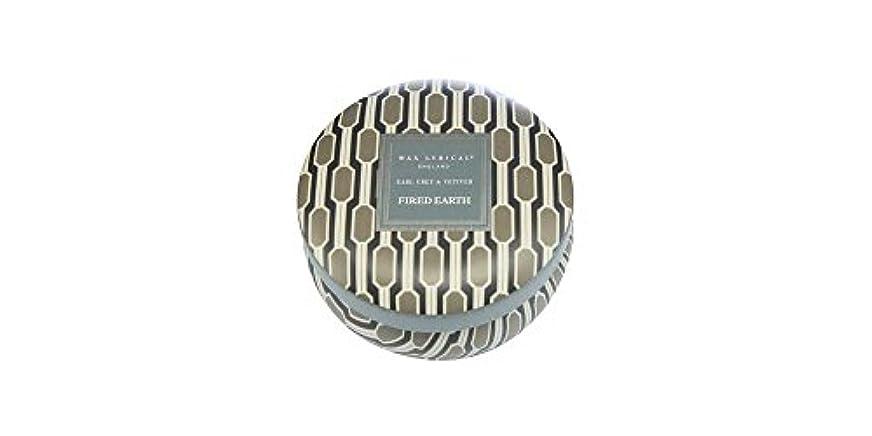 堂々たる大使館変装WAX LYRICAL ENGLAND FIRED EARTH 缶入りキャンドル アールグレー&ベチバー CNFE0807