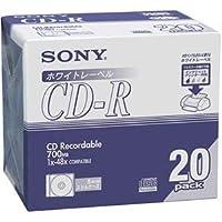 ソニー データ用CD-R 700MB48倍速 ホワイトプリンタブル 5mmスリムケース 20CDQ80DPWA1セット(120枚:20枚×6パック) ds-2124925