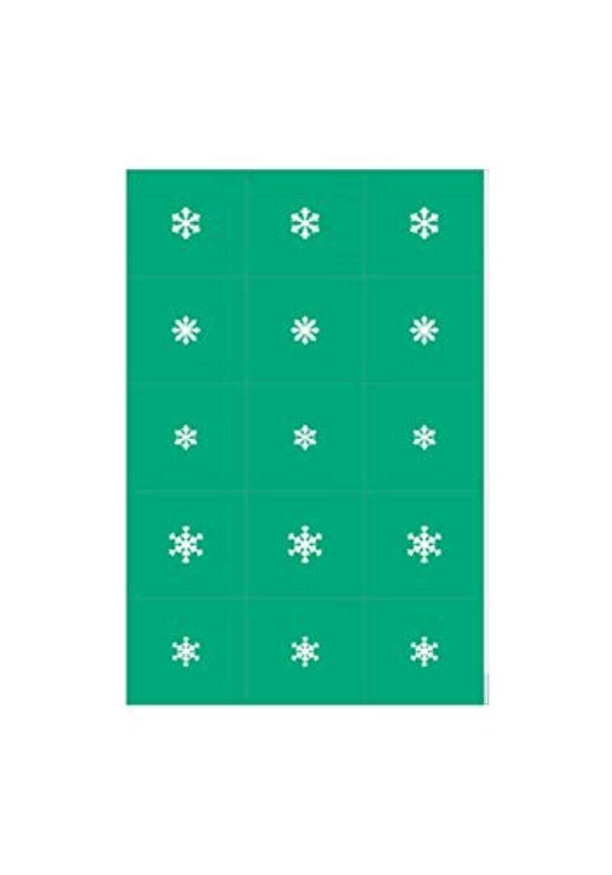 一晩ダイヤル簡単なエアジェル マスキング 雪の結晶
