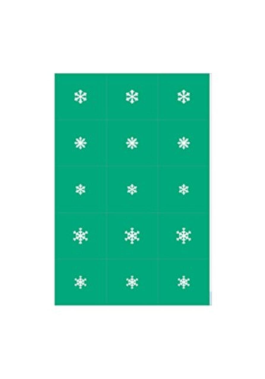 ピクニック物思いにふけるかまどエアジェル マスキング 雪の結晶