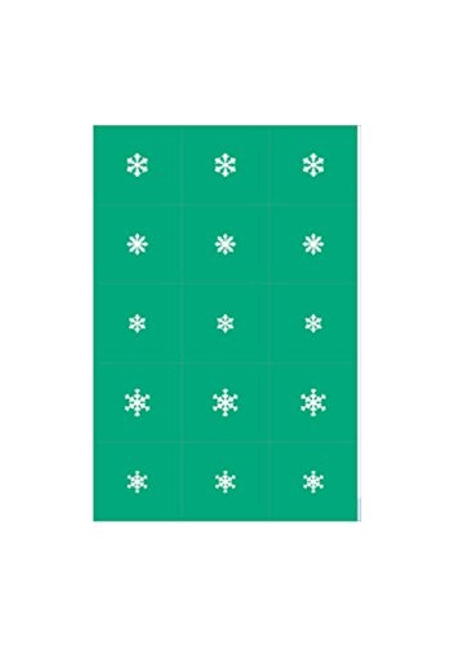 エアジェル マスキング 雪の結晶