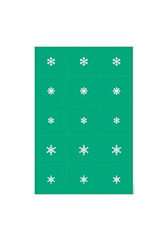 りペフプラスチックエアジェル マスキング 雪の結晶