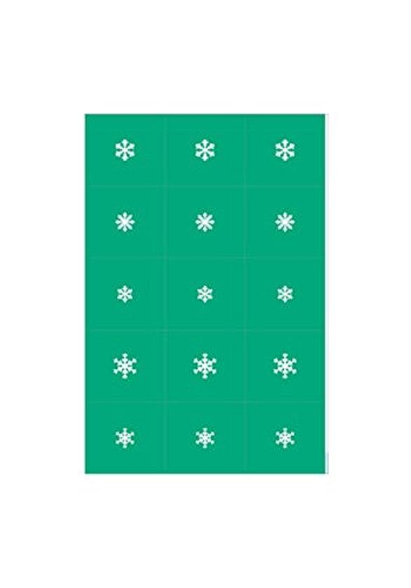 引っ張る呼吸するトランスペアレントエアジェル マスキング 雪の結晶