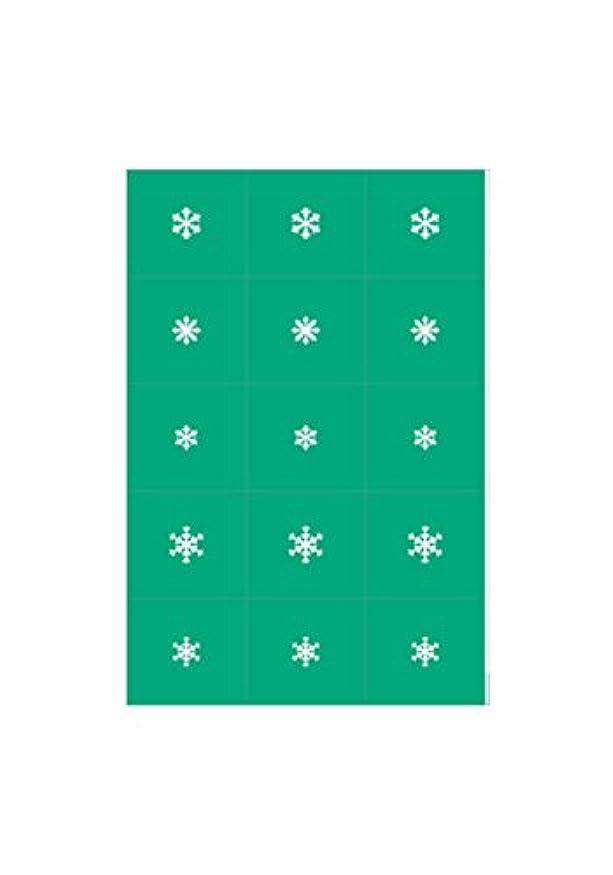 ワゴンクリック職人エアジェル マスキング 雪の結晶