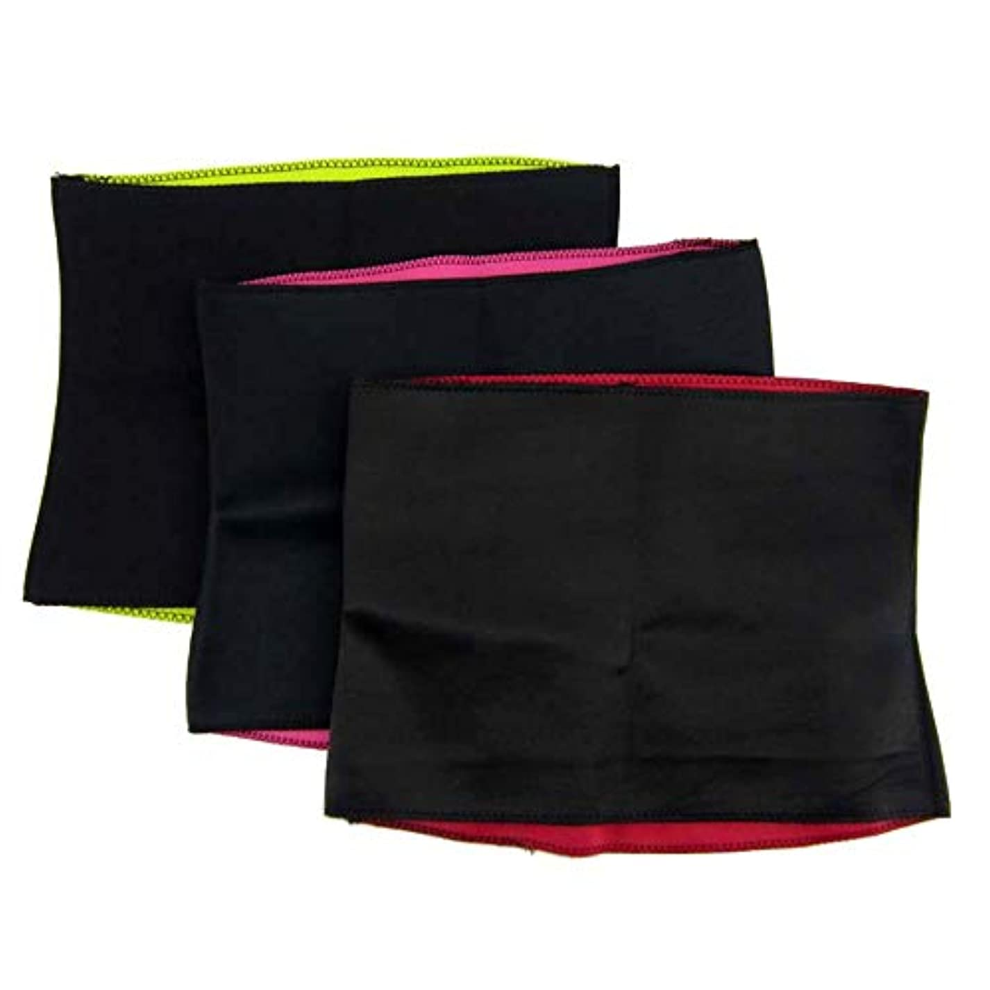 上院議員ティーム解説フィットネス保護ベルト ユニセックスベルト腹部ベルト整形ボディウエスト暖かいフィットネスベルト(3個) 日常に最適 (Size : XL)