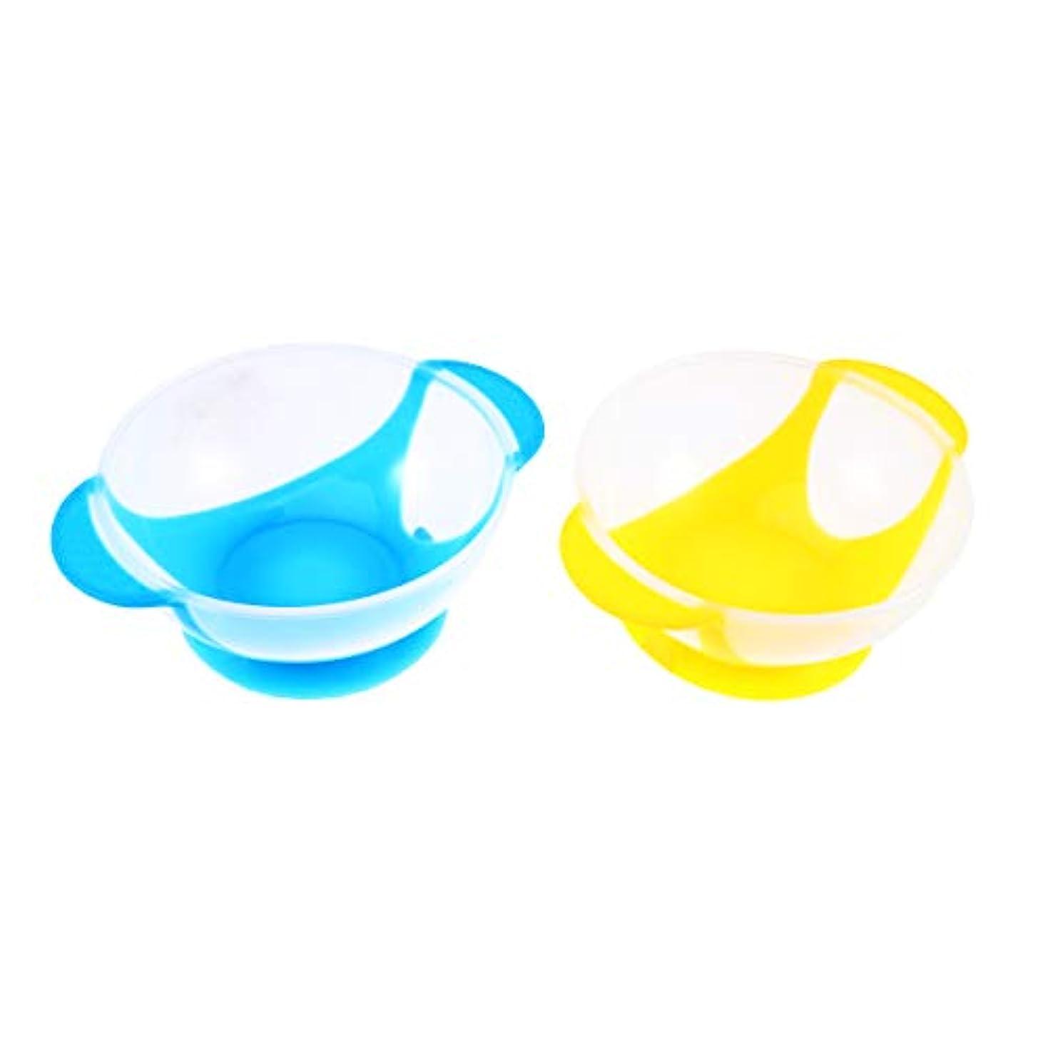 アイデア麺マラソンSUPVOX ヘアカラーボウルプラスチック混合色合いボウルヘアダイボウルDIYオイルトリートメントツール用ホームサロン用(ランダムカラー)