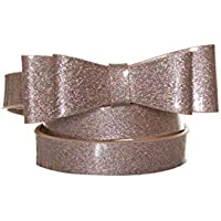 Review Women's Maddie Bow Belt Blush Sparkle