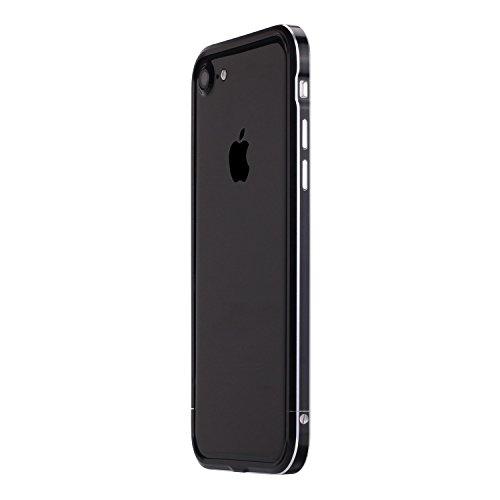 iPhone7 アルミ製メタルバンパー最新型【SWORD】ストラップホール付「SWORD7 PRO+2」【純正・真正品】 (iphone7, ジェットブラック)